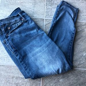 Denizen from Levi's high rise ankle skinny jeans